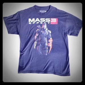 Mass Effect 3 T-Shirt Size L Commander Shepard Tee